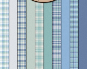 Digital Scrapbooking, Paper, Textured, Plaid, Baby, Boy: Look At Him
