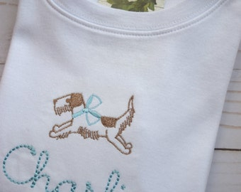 Boys Monogrammed Dog Shirt, Boy Monogram Shirt, Boys Monogram Dog Shirt, Simple Boy Monogram Shirt, Monogrammed Boys Shirt, Boys Dog Shirt