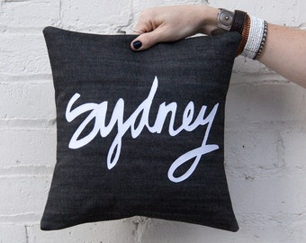 Sydney Pillow, Black and White