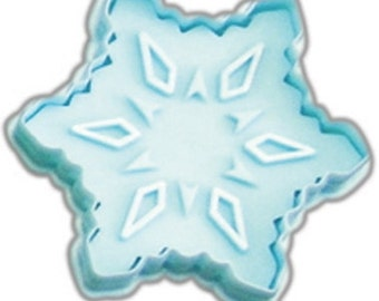 "Snowflake Cookie cutter Pastry, Christmas cookie cutter w/ plunger stamp 2.75"" stamper, snowflake stamp"