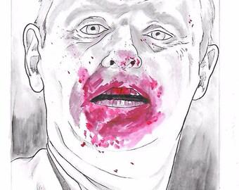 Silence of the Lambs Hannibal Lecter Original Drawing