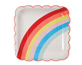 Rainbow birthday | Rainbow Plates | Unicorn Party Supplies | Rainbow Party Decorations | Unicorn Party Favors | Unicorn Party Decorations |