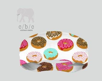Donut Headband, Dunkin Donut Headband, Wedding Headband, Fitness Headband, Indie Headband, Custom Headband, Girls Headband, Printed Headband