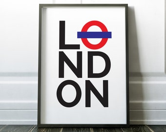 London Print, Wall Art, Minimalist Print, Travel Print, Wall Art Print, Minimalist London, Poster, London Poster, Modern Wall Art, London