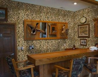 Peel and Stick Camo Vinyl Wallpaper in Mossy Oak Shadow Grass Blades Camo Pattern by Mossy Oak Graphics