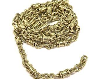 Vintage Designer Cable Bead Chain, 4 Feet, Textured Links, Bead Links, Chain, Jewelry Chain, Rare Chain, Vintage Supplies, B'sue, Item06851
