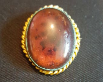 Vintage Purple Cabochon Pin