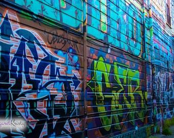 San Francisco California street art graffiti - colorful city art photography
