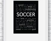 Soccer Words Wall Art Pri...