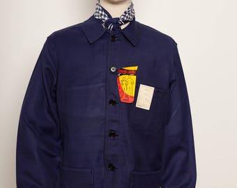 French Indigo Work Jacket Adolphe Lafont 50's