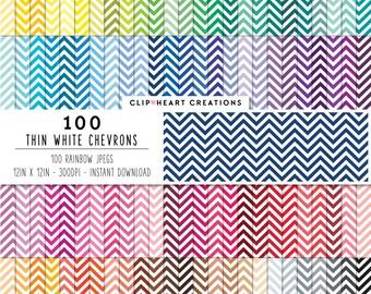 100 white chevron paper, Digital paper, Commercial use, thin chevron, digital chevron paper, digital scrap booking paper, chevron paper