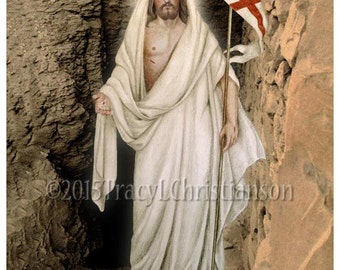 The Resurrection of Jesus Christ Print Catholic Art #4194