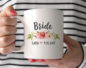 Bride Mug Bride Gift from Bridesmaid Bride Gift from Maid of Honor Bride Gift from Sister Bride Gift from Mother Bride Gift Idea Peach Cute