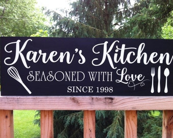 Personalized kitchen signs, Personalized Kitchen Gifts, Personalized Kitchen Items, Personalized Kitchen Decor, Gift for Women, Wood sign