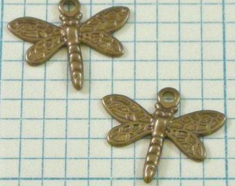 2 VINTAJ Princess Dragonfly Charms - DP460