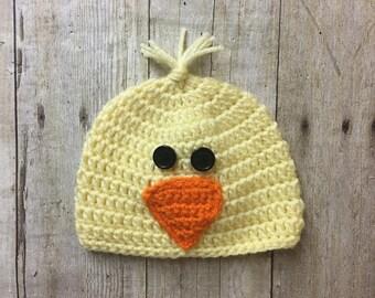Baby Chick Hat, Newborn Chick Hat, Baby Bird Hat, Newborn Bird Hat, Chick Photo Prop, Bird Photo Prop, Newborn Photo Prop, Yellow Bird Hat
