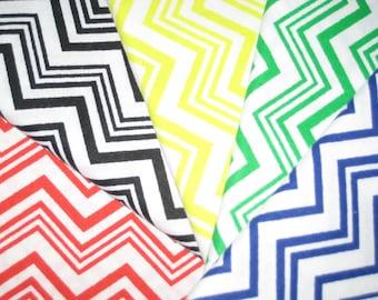 SALE Chevron Fabric Bundle - 5 Fat Quarters -  100% Cotton Fabric - Ready to Ship