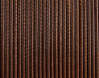 "10 meters of waxed polyester cord 2mm ""coconut brown"" Korean"