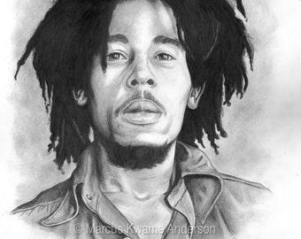 Bob Marley 13x15 Print