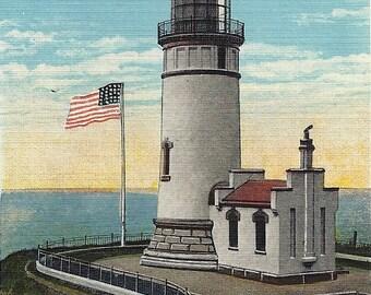 Vintage Washington Postcard North Head Lighthouse Ilwaco