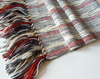 Handwoven wool scarf, womans woven scarf, handwoven wrap, womens wrap, winter scarf