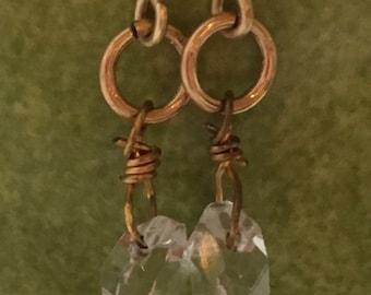 Crystal Pierced Earrings