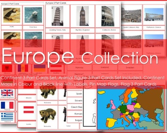 Montessori EUROPE Continent Collection