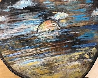 Hand painted Beach Sunset
