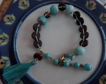 Warm brown wood bracelet
