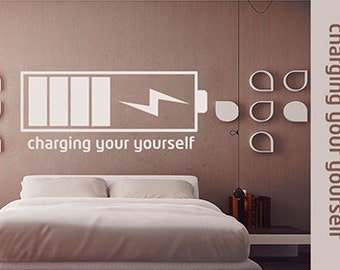 charging your yourself - bedroom painting