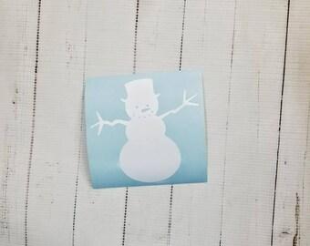 Mini Snowmen Vinyl Decals Set of 12