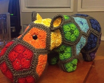 Custom handmade Happypotmus the Happy Hippo