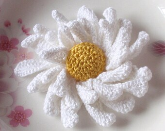 Larger Crochet Flower in 3-1/2 inches YH-119