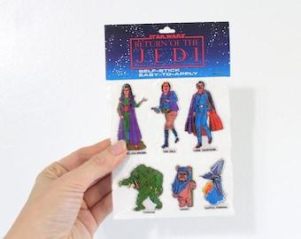 Star Wars Stickers, Return of the Jedi Stickers, Vintage Puffy Stickers, Sticker Set, Star Wars, Return of the Jedi, Ewok, Vintage, Sealed