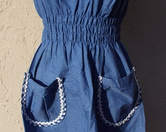 Vintage Sleeveless Blue Dress by Komar
