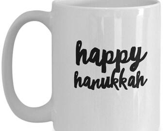 Happy Hanukkah mug, cup, 15 oz.