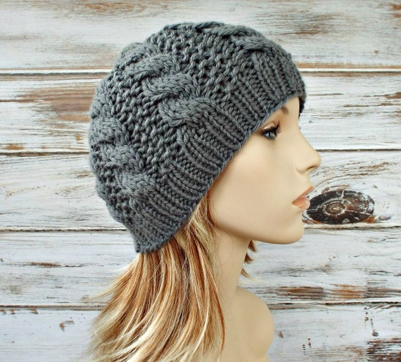 Instant Download Knitting Pattern Cable Hat Pattern Knit