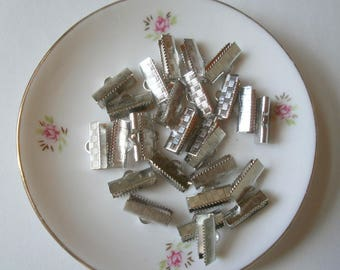 10 clasps tip claw silver plated 20 * 8 * 5 mm