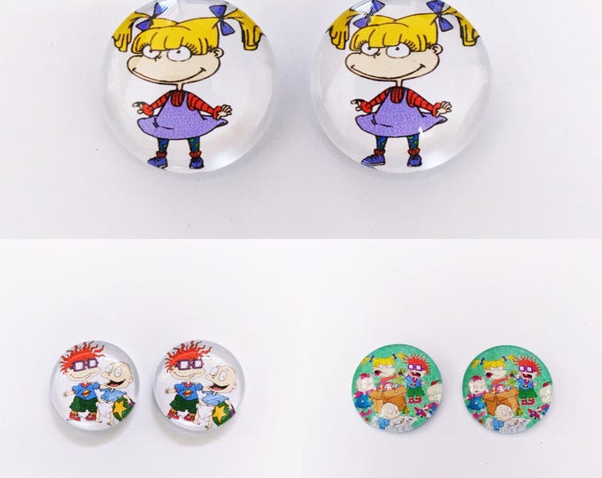 The 'Rugrats' Glass Earring Studs