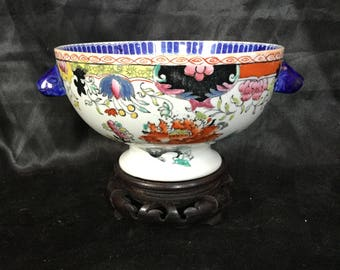 A super rare and beautiful 19th century Mason's bowl