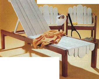 Chairs And Chaise Lounge Woodworking Plans