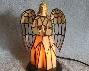 Accent Lamp - Stained Glass Angel - Guardian Angel Nightlight