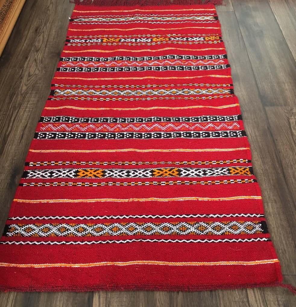 Moroccan Berber Traditional Handwoven Kilim Rug