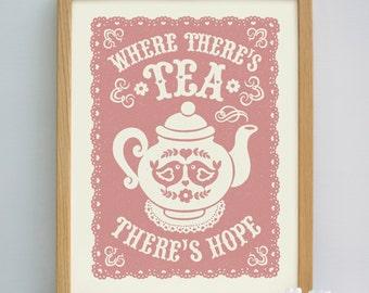 Tea Print   Teapot Print   Tea Gift   Cafe Art