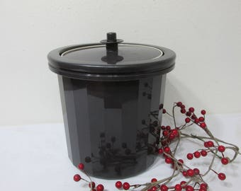 Tupperware Ice Bucket Insulated 3 Piece with a Push Button Servalier Lid