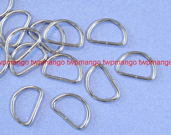 """100 3/4"""" Dee Rings For Webbing Strapping Metal D Rings H108"""