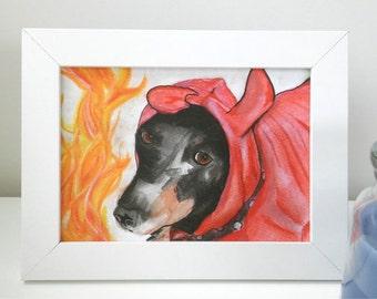 Custom Pet Portrait, commissioned dog portrait