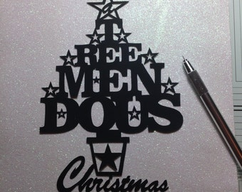 Papercut paper cut template for Christmas