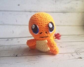 Crochet Pokemon | Pokemon plush | Pokemon go | charmander plush | Pokemon amigurumi | Crochet Charmander | charmander amigurumi