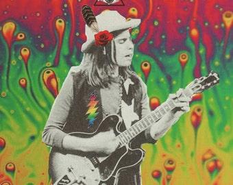 Psychedelic Cowboy Bob Weir Print